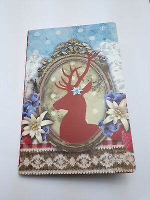 """Petit carnet Orval. """"Renne"""" calepin déco shabby chic vintage"""