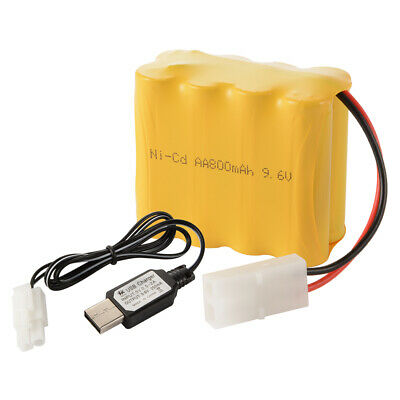 9.6V 800mAh Ni Cd AA Rechargeable Batterie KET 2Pin Plug + Chargeur De BC800