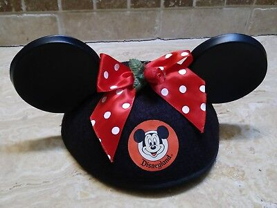 e31afab9533b1d Disneyland Mickey Mouse Ears Hat- MINNIE MOUSE EARS Theme Park Souvenir  Vintage