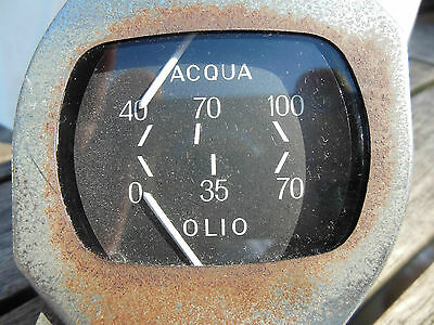 Lancia Flavia2000 LX Berlina Water temp and Oil pressure instrument cluster