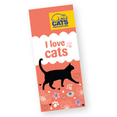 """""""I Love Cats"""" Magnetic Bookmark"""