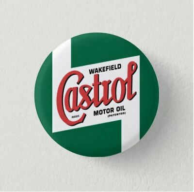 Chapa Pin Button Badge CASTROL CARTEL, LOGO ANTIGUO CASTROL