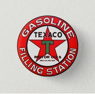 Chapa Pin Button Badge TEXACO OILS RETRO, VINTAGE  LOGO