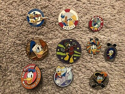 Donald Duck Disney Trading Pin Lot #5 Comes With Ten Pins.