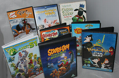 Collection Job Lot of 8 Childrens Animated DVD Bundle Assortment