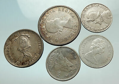 GROUP LOT of 5 Old SILVER Europe or Other WORLD Coins for your COLLECTION i75647