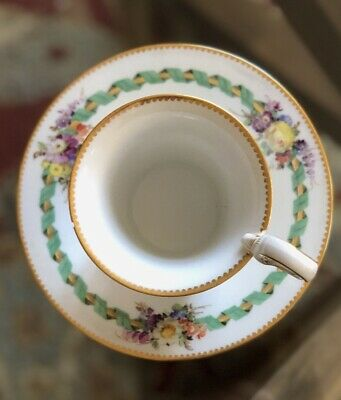 Meissen Antique Chocolate Cup and Saucer