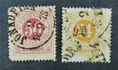 nystamps Sweden Stamp # 24.26 Used $88