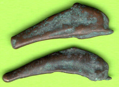 Sarmatia OLBIA Cast Proto Money DOLPHIN 5th BC Ukraine Crimea Russland 2 pc.199