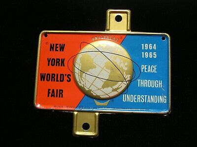1964-65 New York World's Fair Unisphere License Plate Topper unused