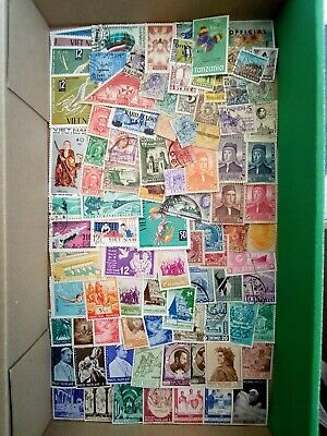 BOX OF STAMPS USED MM ON/OFF PAPER WORLDWIDE GOOD SORT APPROX 442g INC  BOX