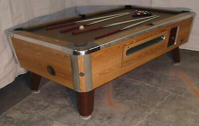 Valley Cougar Comm Bar Size 7' Coin-Op Pool Table  Zd-6  Refurbished In Taupe