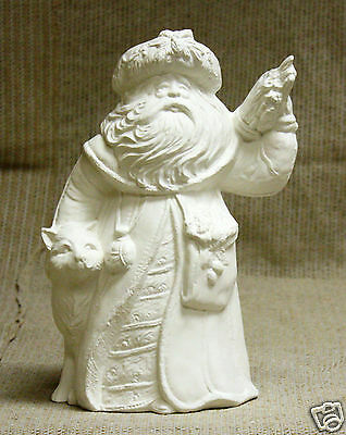 Ceramic Bisque Antique Mountain Santa from Gare Mold 2496 U-Paint Ready To Paint