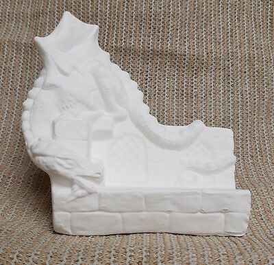Ceramic Bisque Dragon Business Card Holder Lakeland 282 U-Paint Ready To Paint