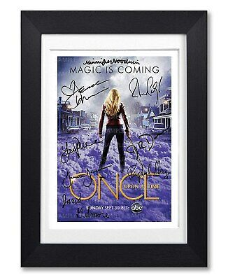 Once Upon A Time Cast Signed Poster Print Tv Series Season Photo Autograph Gift
