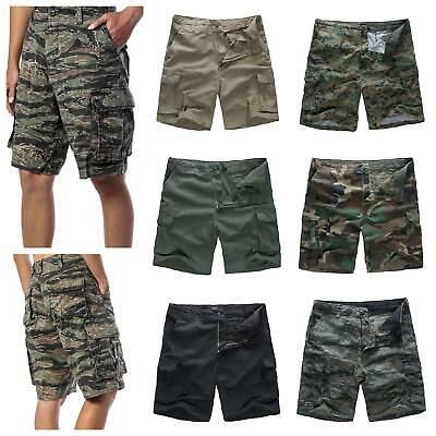 Mens Army Military Combat Camo Shorts Fashion Cargo Shorts Camping Work Fishing