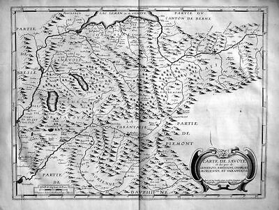 1740 - Savoie Savoia Savoyen carte map Kupferstich acquaforte incisione