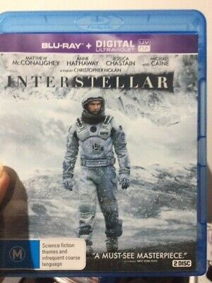 Interstellar (Blu-ray, 2015, 2-Disc Set)  AS NEW