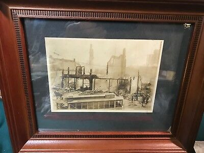 Early 1900's Downtown Decatur, Illinois Fire w/ Interurban, Neustadt's Clothing