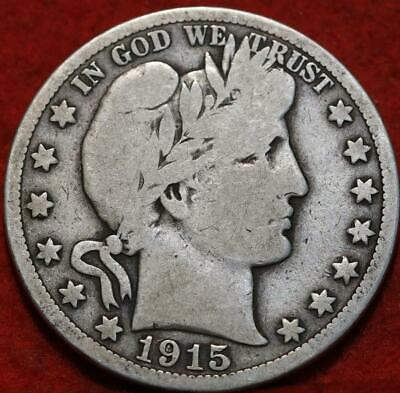 1915-S San Francisco Mint Silver Barber Half Dollar