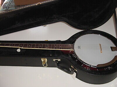 New Full Size 5 String Banjo 24 Bracket Remo Head with New Hard Shell Case