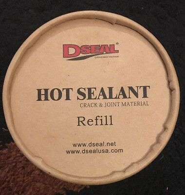 Lot Of 4 Containers Of Dseal Driveway Hot Sealant Refill . 2 Lbs Each