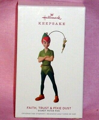 HALLMARK KEEPSAKE ORNAMENT ~ PETER PAN ~ FAITH TRUST and PIXIE DUST ~ 2018 *NEW