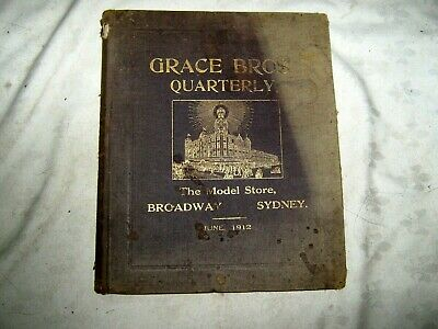 A Very Rare June 1912 Australian Grace Bros Broadway Full Store Bound Catalogue