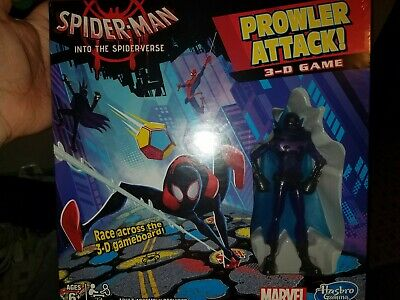 Marvel Spider-man Into The Spider-verse Prowler Attack 3-D Game Figure Hasbro