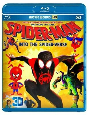 Spider-Man:into the spider-verse ( 3D & 2D ) + Robin Hood (2D ) Region Free !!