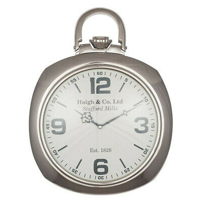 Wall Clock Pacific Lifestyle Shiny Nickel & Glass RRP- £99.99