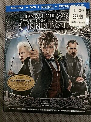 Fantastic Beast: The Crimes of Grindelwald (Blu-ray, DVD, Digital,) BRAND NEW