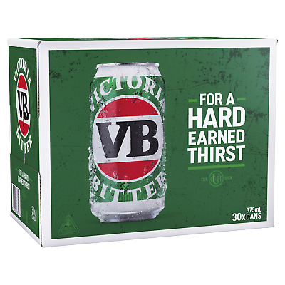 Victoria Bitter Beer 30x375ml Cans