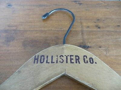 Hollister Co.vintage Antique Wooden Advertising Clothes Hager