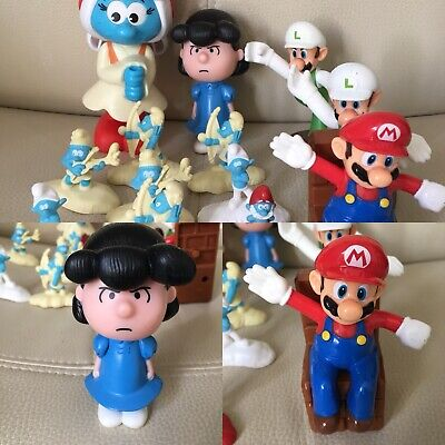 Peanuts Mcdonalds Happy Meal Talking Lucy Mario Brothers Smurf Bundle