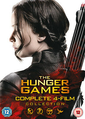 The Hunger Games: Complete 4-Film Collection - 4 Disc DVD Box Set
