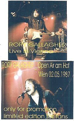 RORY GALLAGHER Live in Vienna 2CD Recorded Live 02-05-87 LIKE NEW