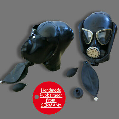 Latex Rubber Gum Studio Gas Mask - Latexmaske Gasmaske - custom made - p14
