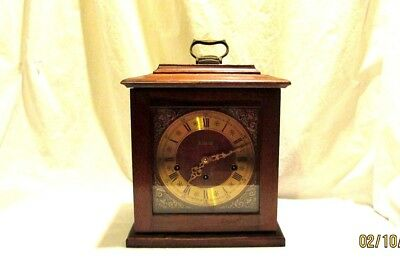 Elgin Westminister Mantle Clock with Key 350-050 Franz Hermie 2 Jewels