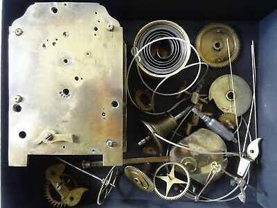Antique Brass English Fusee  Daily Clock movement / parts For repairs and spares