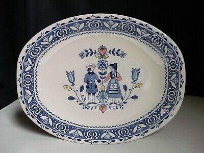 "Johnson Brothers England Old Granite Hearts & Flowers 12.5"" Oval Serving Platter"