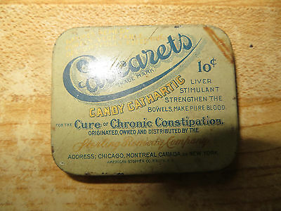 Cascarets Candy Catmartic,Liver Stimulant,Make Pure Blood,Advertising Tin