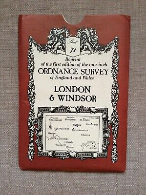 Reprint of 1st edition one inch Ordnance Survey Map, Sheet 71, London & Windsor