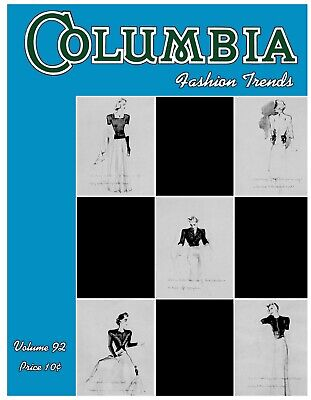 Columbia Yarn #92 c.1940 Fashions Trends for Women Knitting Patterns for Blouses