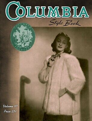 Columbia Yarn #97 c.1940 Vintage Hand Knitting Fashion Patterns for Women