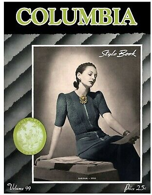 Columbia Yarn #99 c.1941 Vintage Style Book of Women's Fashion Knitting Patterns
