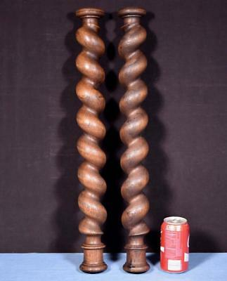 "*24"" Antique Spiral Turned/Barley Twist Posts/Pillars/Columns in Oak Wood"