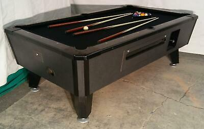 Valley Cougar Commercial Bar Size 7' Coin-Op Pool Table Black Cat In Black Cloth