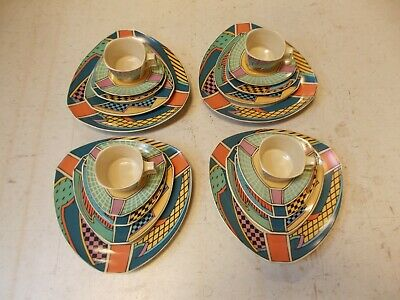 20 Pc ROSENTHAL Studio Line FLASH Dorothy Hafner Geometric Deco Dinner Plate Set