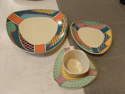 8 pc ROSENTHAL Studio FLASH Dorothy Hafner Dinner Bread PLATE Cup Saucer set 80S